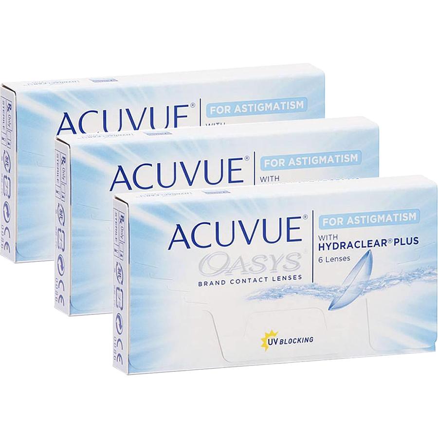 Lentile de contact cu dioptrii Johnson&Johnson Acuvue Oasys for Astigmatism bi-lunare 3 x 6 lentile / cutie cu comanda online