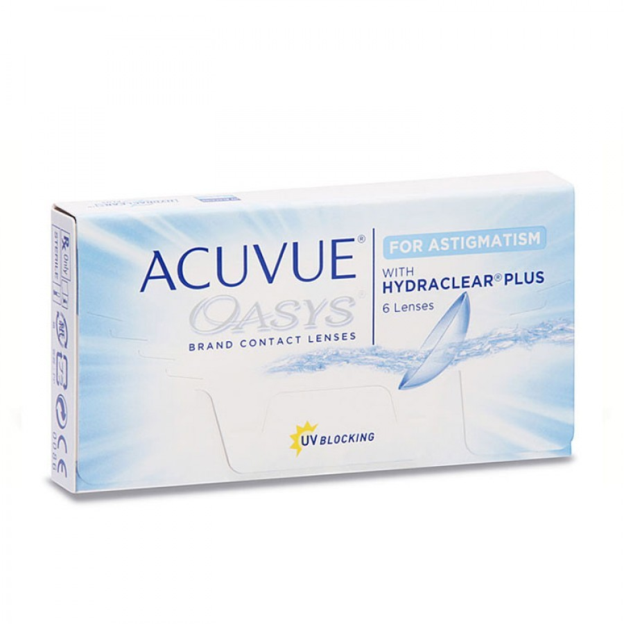 Lentile de contact cu dioptrii Johnson&Johnson Acuvue Oasys for Astigmatism bi-lunare 6 lentile / cutie cu comanda online