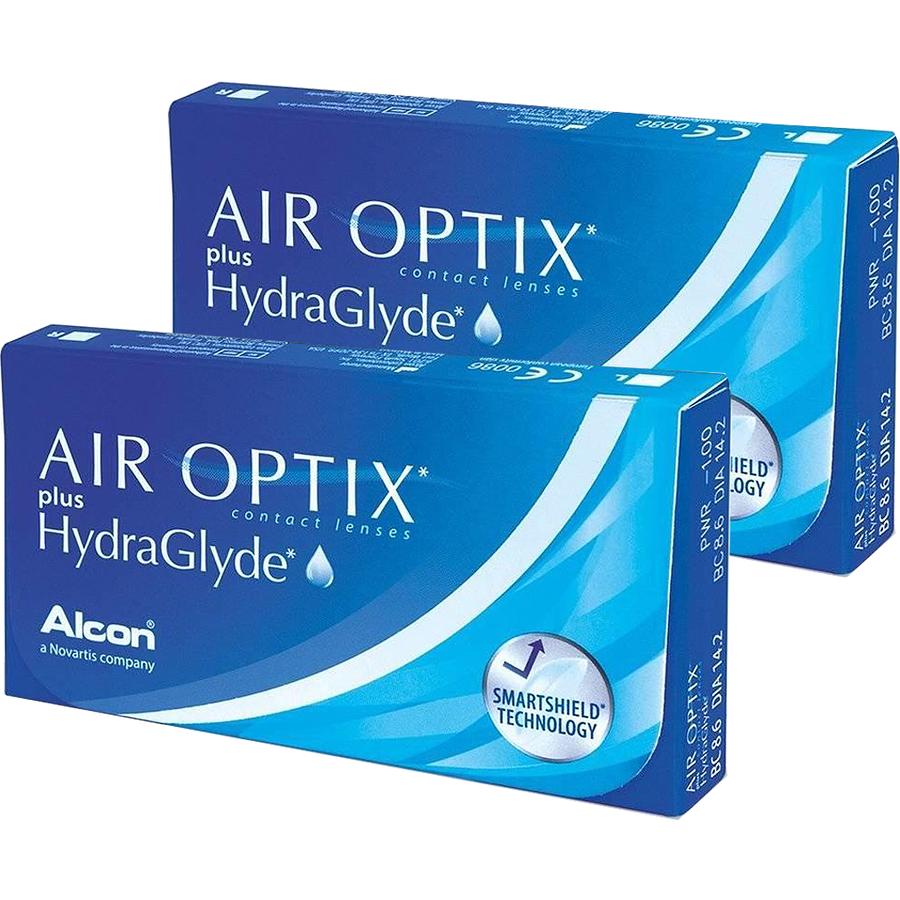 Lentile de contact cu dioptrii Lentile contact Air Optix plus HydraGlyde 2 x 6 lentile / cutie cu comanda online