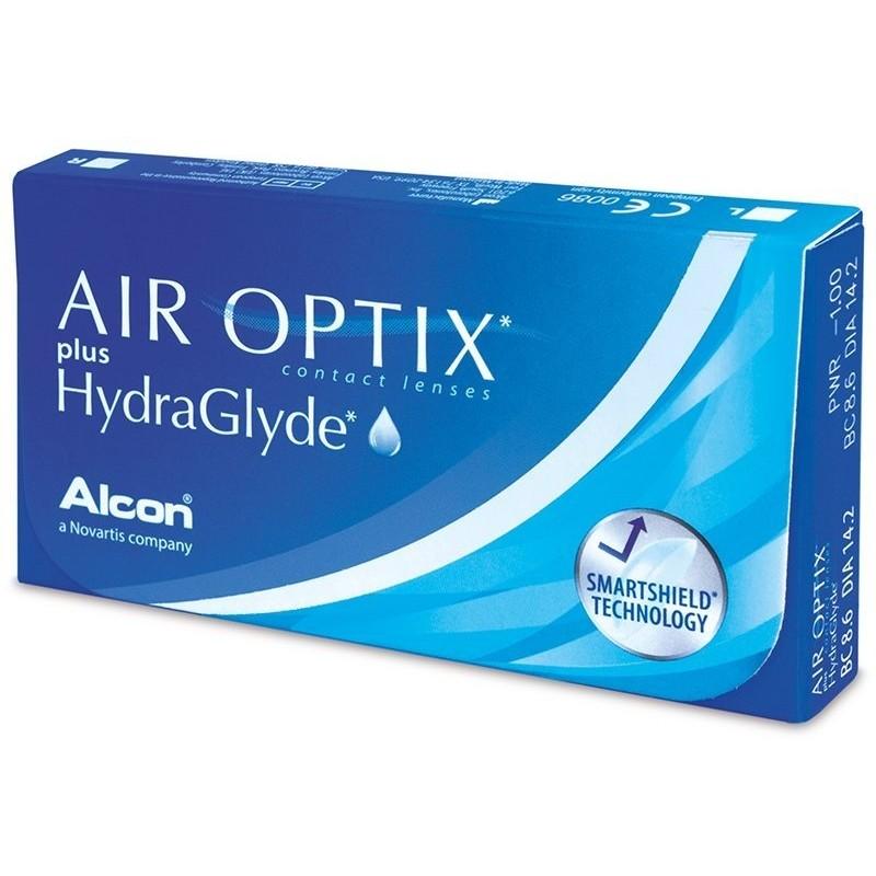 Lentile de contact cu dioptrii Lentile contact Air Optix plus HydraGlyde 3 lentile / cutie cu comanda online