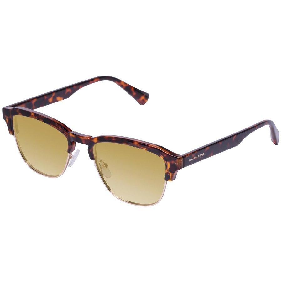 Ochelari de soare barbati Hawkers CLATR05 Carey Gold Gradient Classic Browline originali cu comanda online