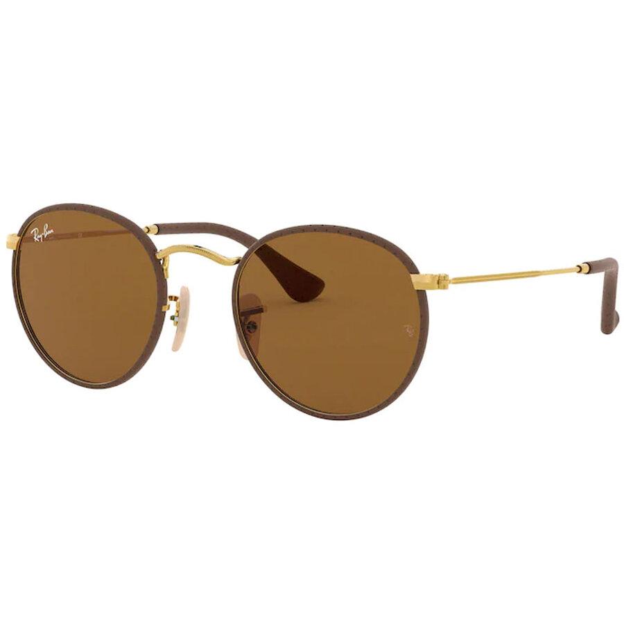 Ochelari de soare barbati Ray-Ban RB3475Q 9041 Rotunzi originali cu comanda online