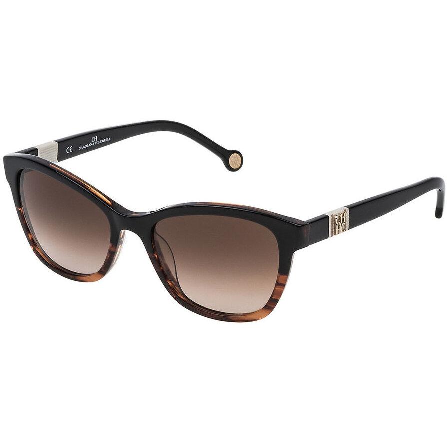 Ochelari de soare dama Carolina Herrera SHE698 0GEQ Patrati originali cu comanda online
