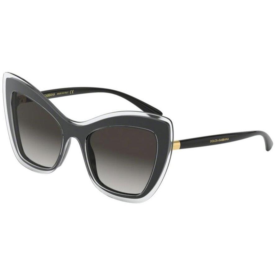 Ochelari de soare dama Dolce & Gabbana DG4364 53838G Ochi de pisica originali cu comanda online