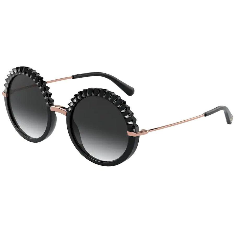 Ochelari de soare dama Dolce & Gabbana DG6130 501/8G Rotunzi originali cu comanda online