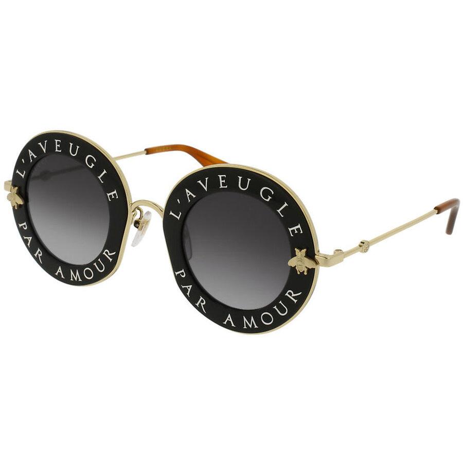Ochelari de soare dama Gucci GG0113S 001 Rotunzi originali cu comanda online