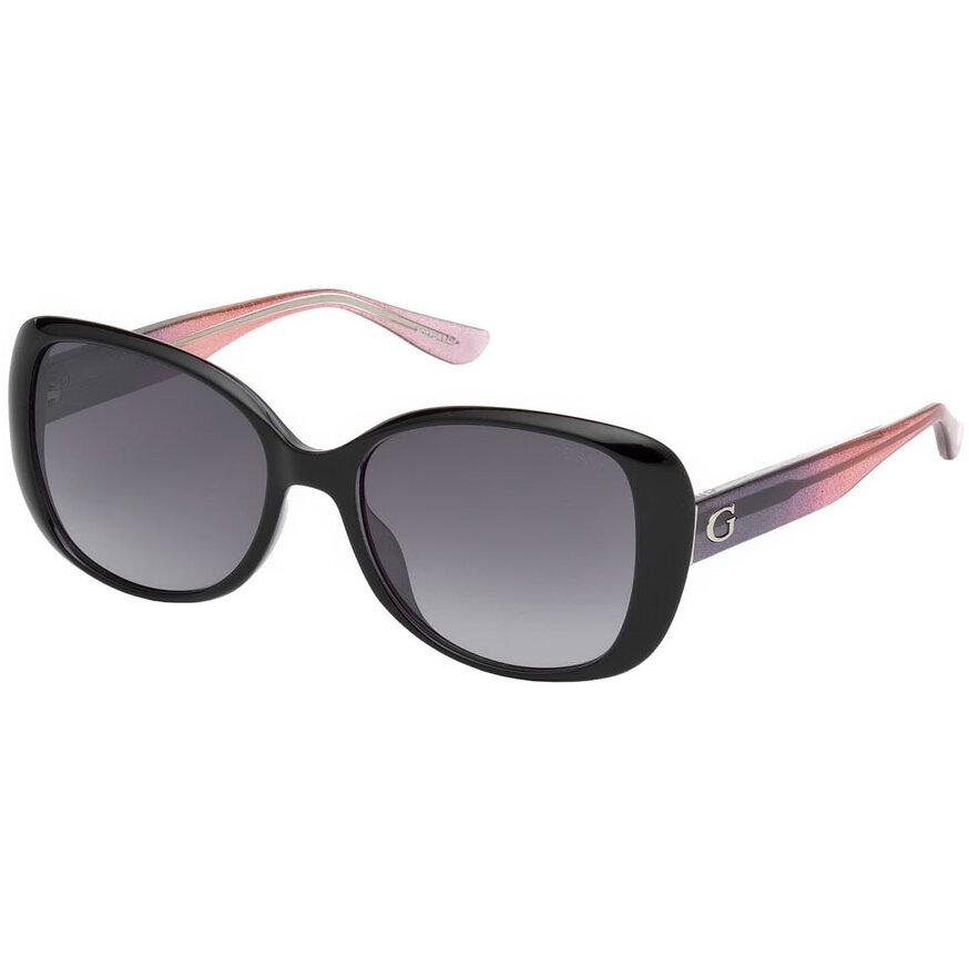 Ochelari de soare dama Guess GU7554 05B Patrati originali cu comanda online