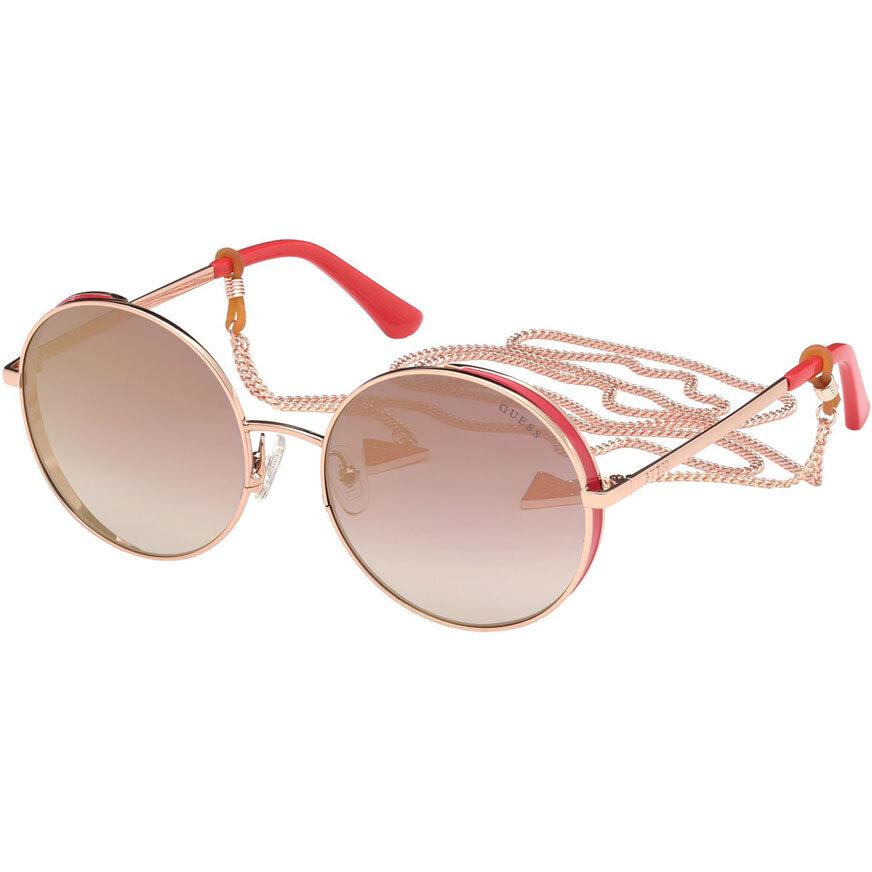Ochelari de soare dama Guess GU7606 28U Rotunzi originali cu comanda online