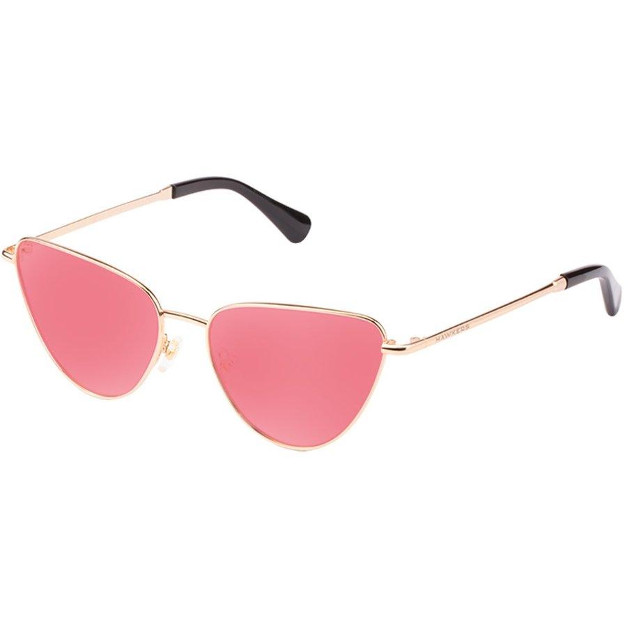 Ochelari de soare dama Hawkers H06FHM0648 Gold Light Red Ovali originali cu comanda online
