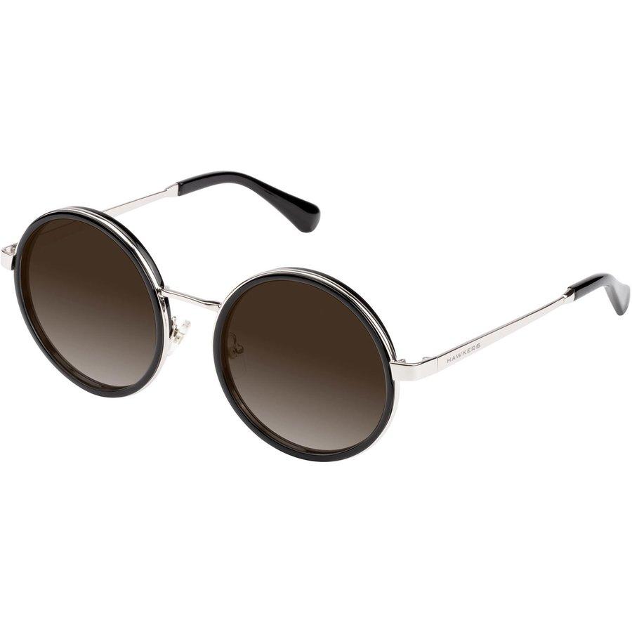 Ochelari de soare dama Hawkers H09FHM1830 Silver Brown Gradient Tulum Rotunzi originali cu comanda online