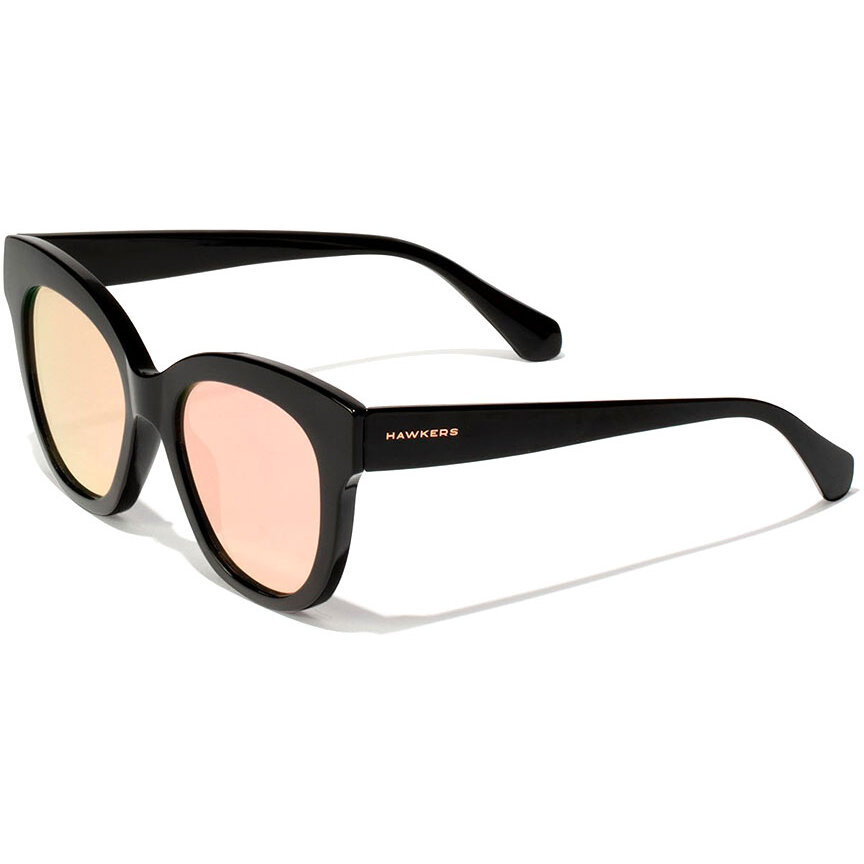 Ochelari de soare dama Hawkers High Fashion Black Rose Gold Audrey 110025 Fluture originali cu comanda online