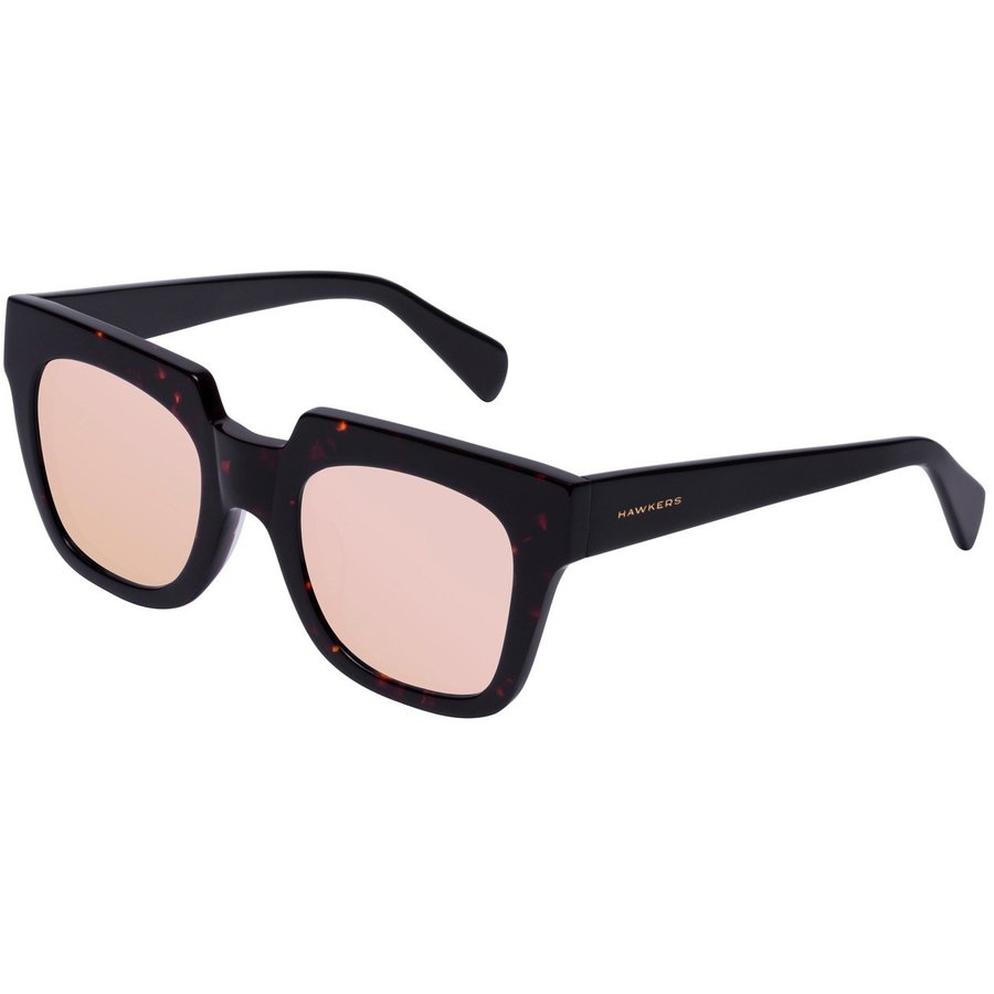 Ochelari de soare dama Hawkers ROX03 Dark Carey Black Temple Rose Gold Row X Patrati originali cu comanda online