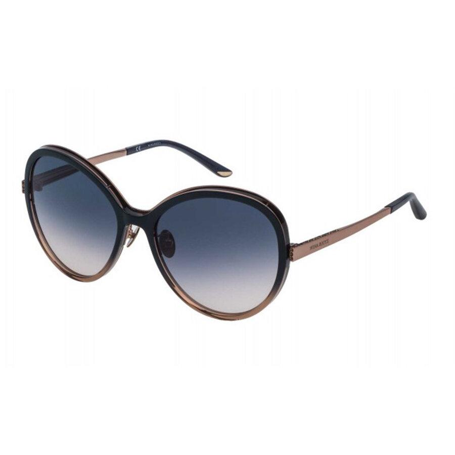 Ochelari de soare dama Nina Ricci SNR108S 01BA Rotunzi originali cu comanda online