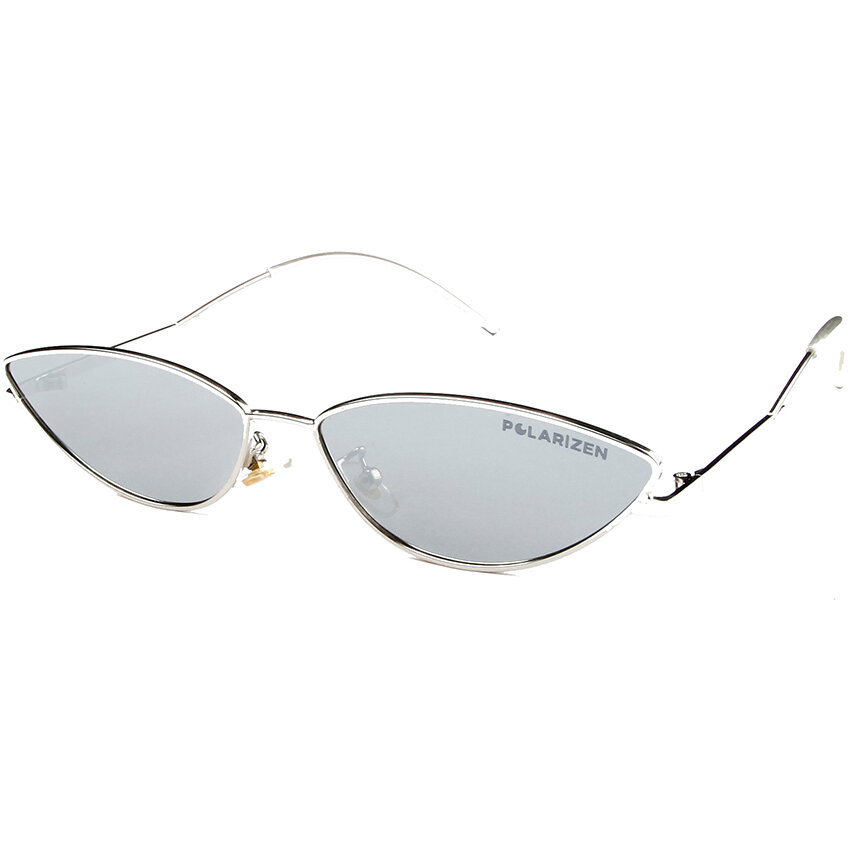 Ochelari de soare dama Polarizen 2698 Argintiu Ochi de pisica originali cu comanda online