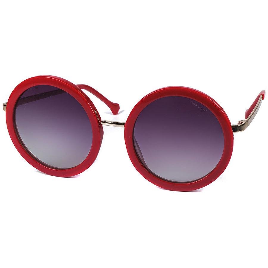 Ochelari de soare dama Sover SS 1095 RED-GSMK Rotunzi originali cu comanda online