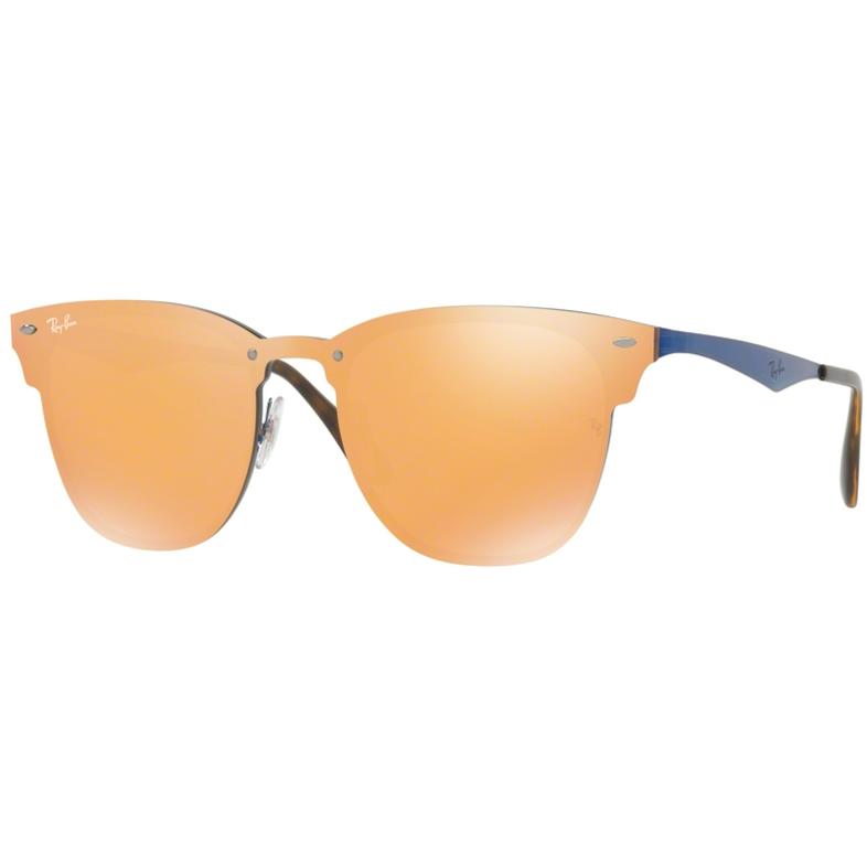Ochelari de soare unisex Blaze Clubmaster Ray-Ban RB3576N 90377J Patrati originali cu comanda online