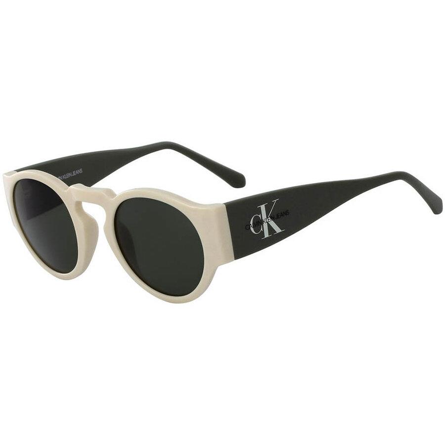 Ochelari de soare unisex Calvin Klein Jeans CKJ18500S 110 Rotunzi originali cu comanda online