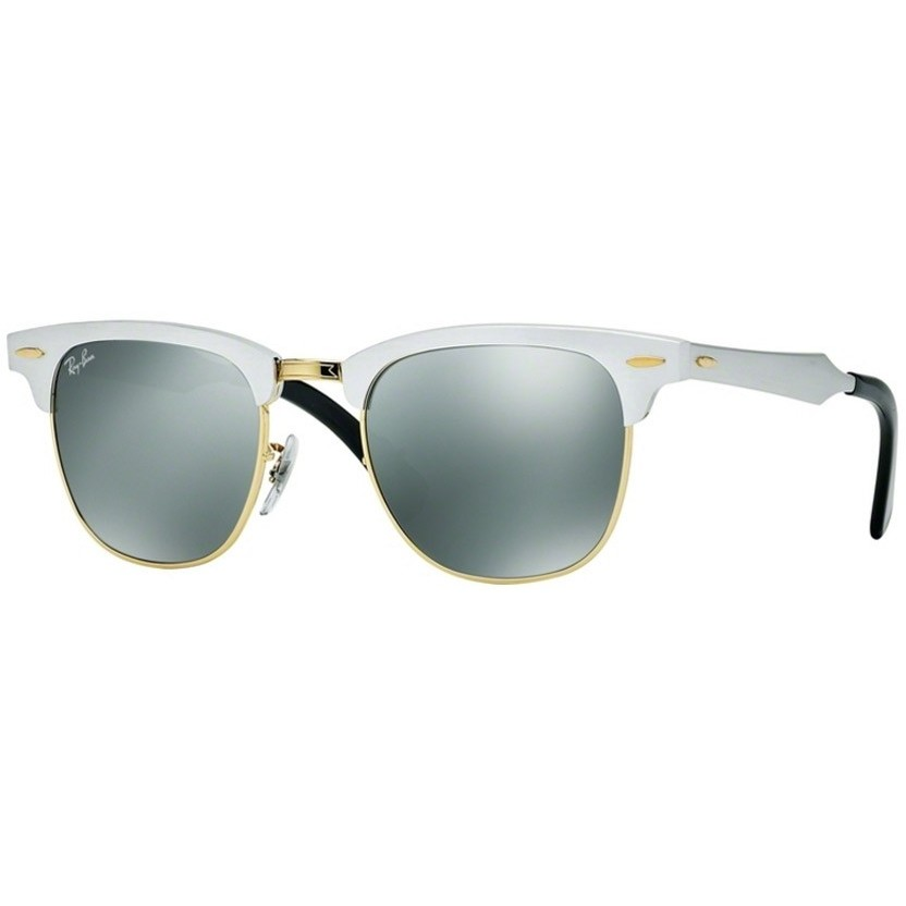 Ochelari de soare unisex Clubmaster Aluminum Ray-Ban RB3507 137/40 Browline originali cu comanda online