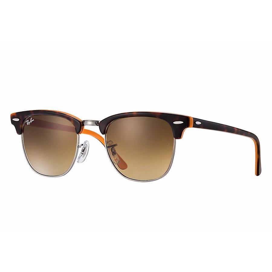 Ochelari de soare unisex Clubmaster Ray-Ban RB3016 112685 Browline originali cu comanda online