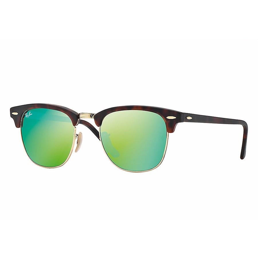 Ochelari de soare unisex Clubmaster Ray-Ban RB3016 114519 Browline originali cu comanda online