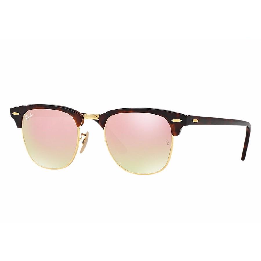 Ochelari de soare unisex Clubmaster Ray-Ban RB3016 990/7O Browline originali cu comanda online