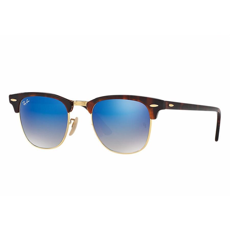 Ochelari de soare unisex Clubmaster Ray-Ban RB3016 990/7Q Browline originali cu comanda online