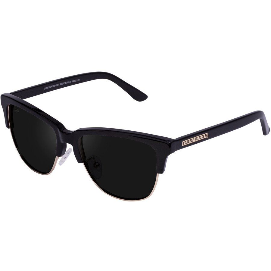 Ochelari de soare unisex Hawkers C18TR01 Diamond Black Dark Classic Browline originali cu comanda online