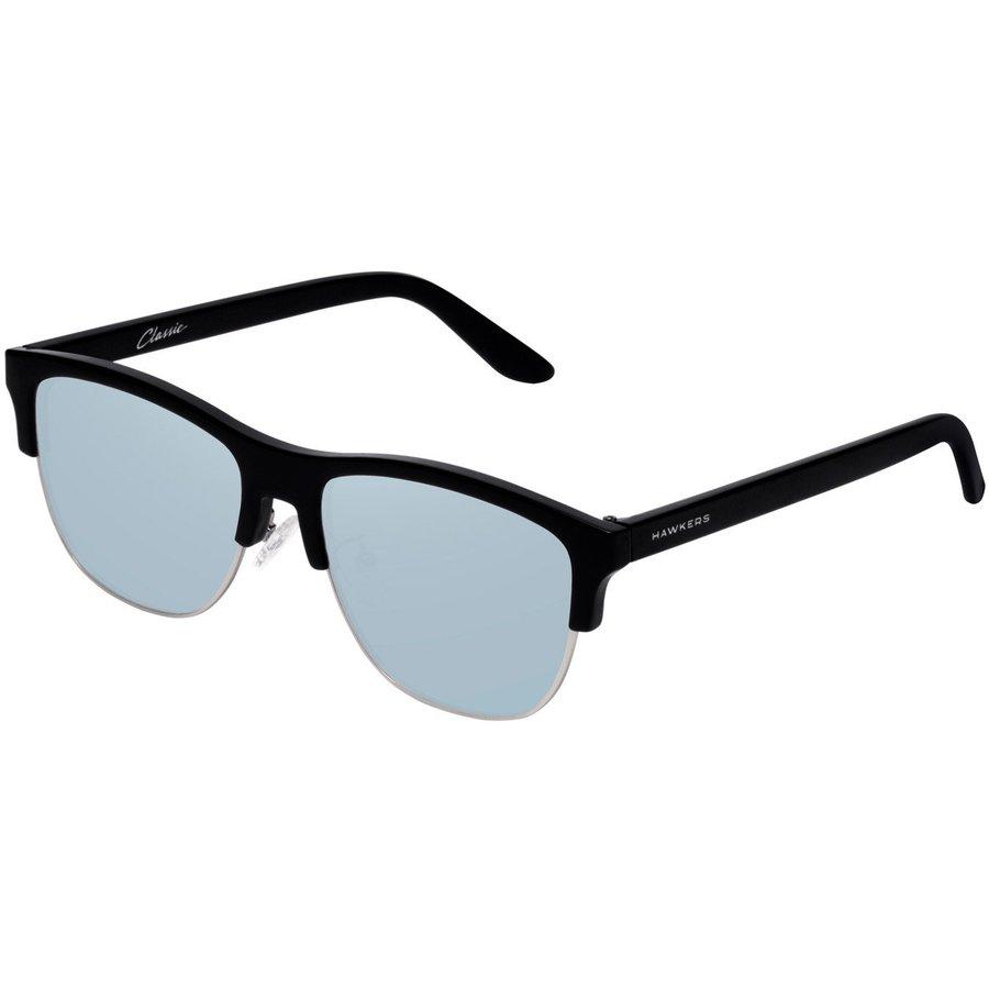 Ochelari de soare unisex Hawkers CFTR02 Diamond Black Blue Chrome Classic Flat Browline originali cu comanda online