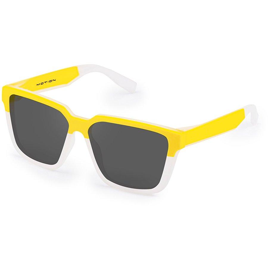Ochelari de soare unisex Hawkers H04SHT1201 Yellow Frozen White Dark Motion One Sport Strong Rectangulari originali cu comanda online