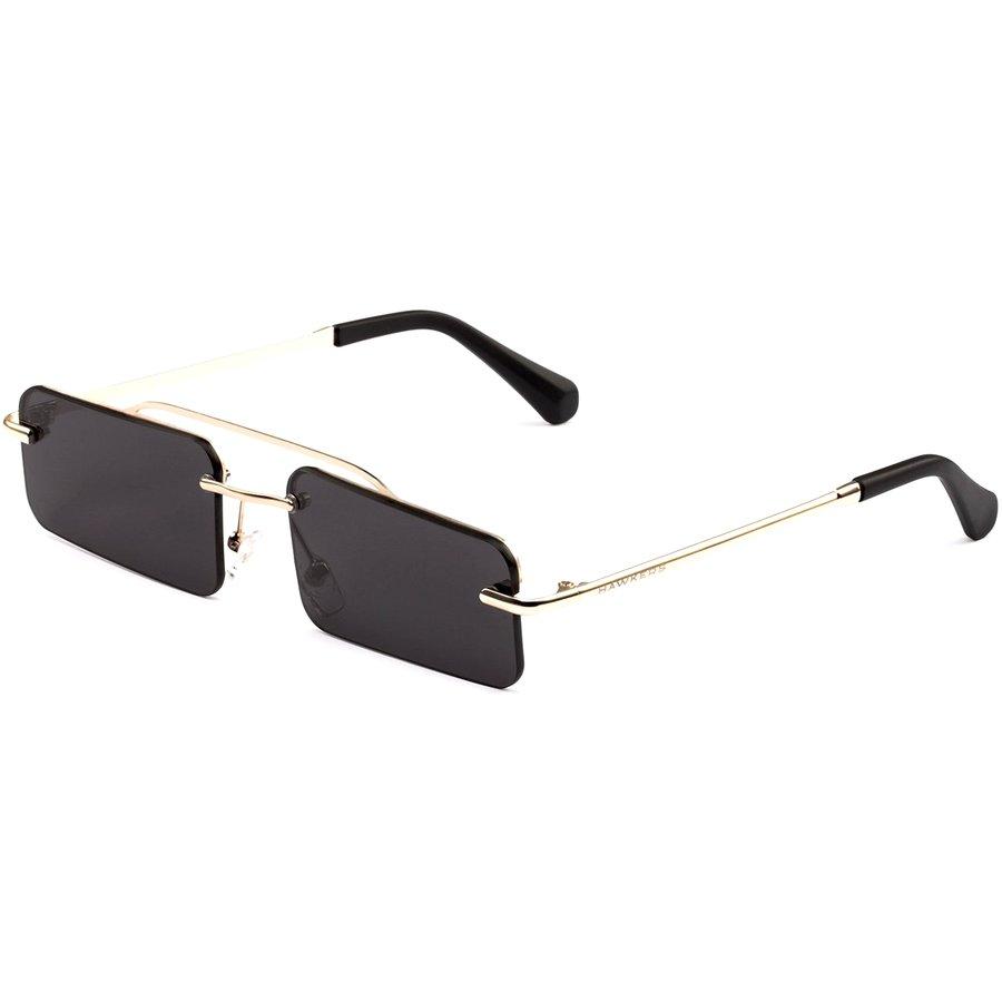 Ochelari de soare unisex Hawkers H05FHM0601 Gold Dark Squared Chella Rectangulari originali cu comanda online