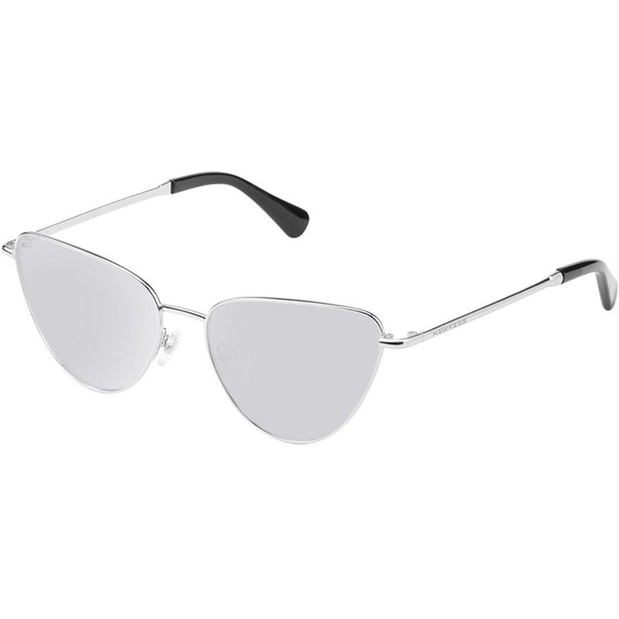 Ochelari de soare unisex Hawkers H06FHM1809 Silver Chrome Ochi de pisica originali cu comanda online