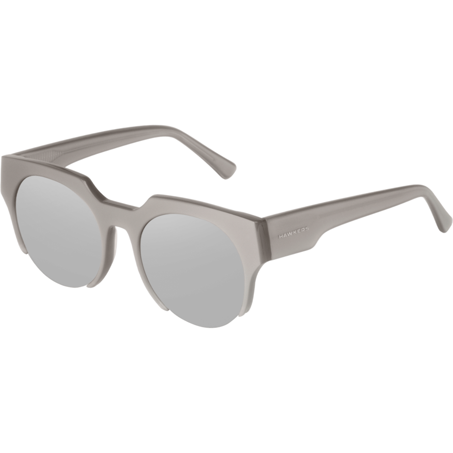 Ochelari de soare unisex Hawkers HFAS02 Shiny Grey Silver HF1 Rotunzi originali cu comanda online