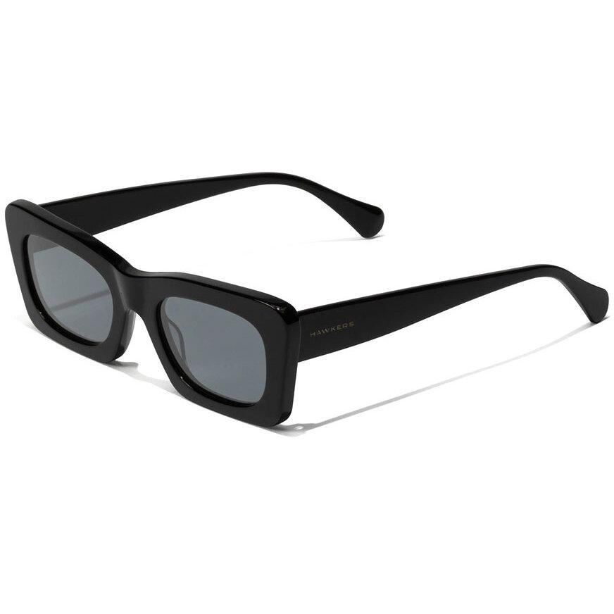 Ochelari de soare unisex Hawkers High Fashion Black Lauper 120010 Rectangulari originali cu comanda online