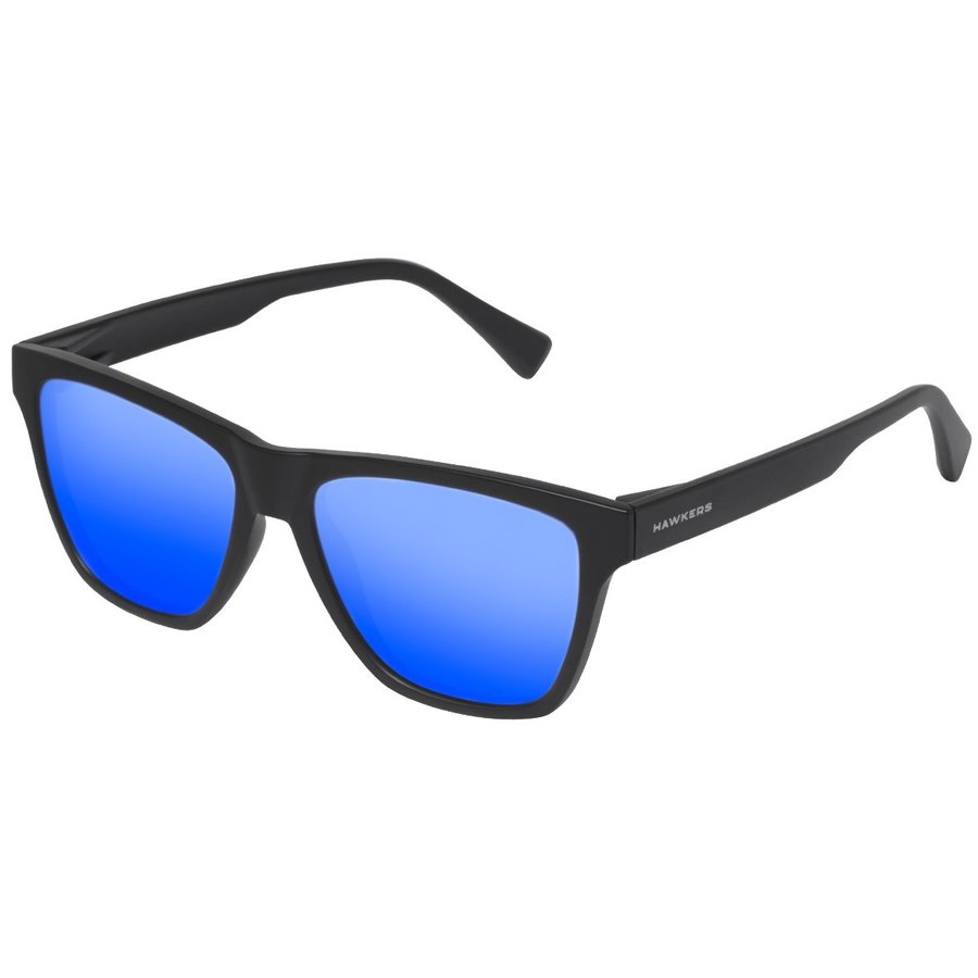 Ochelari de soare unisex Hawkers LIFTR07 RUBBER BLACK SKY ONE LS Rectangulari originali cu comanda online