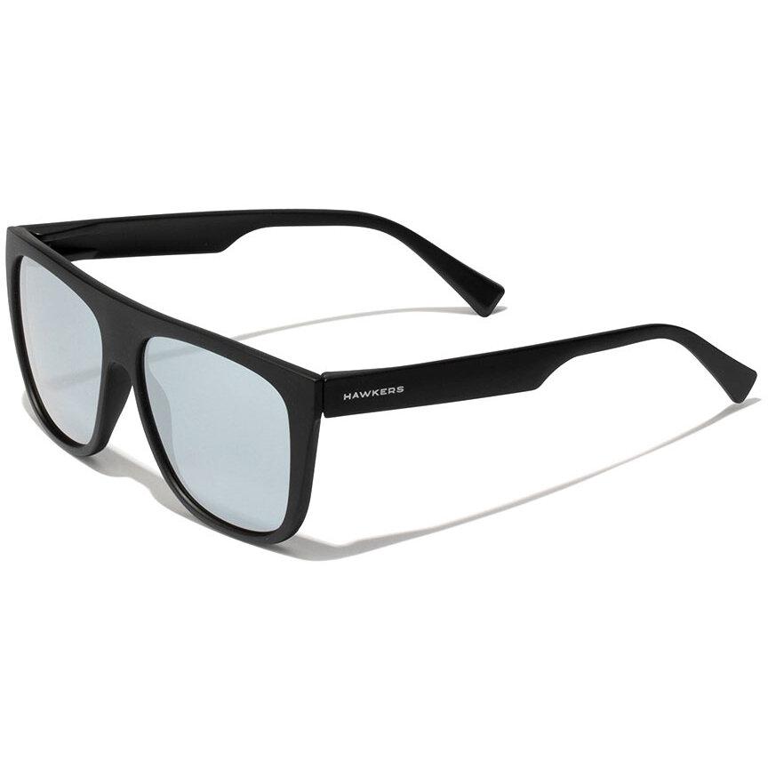 Ochelari de soare unisex Hawkers LifeStyle Black Chrome Runway 110042 Rectangulari originali cu comanda online