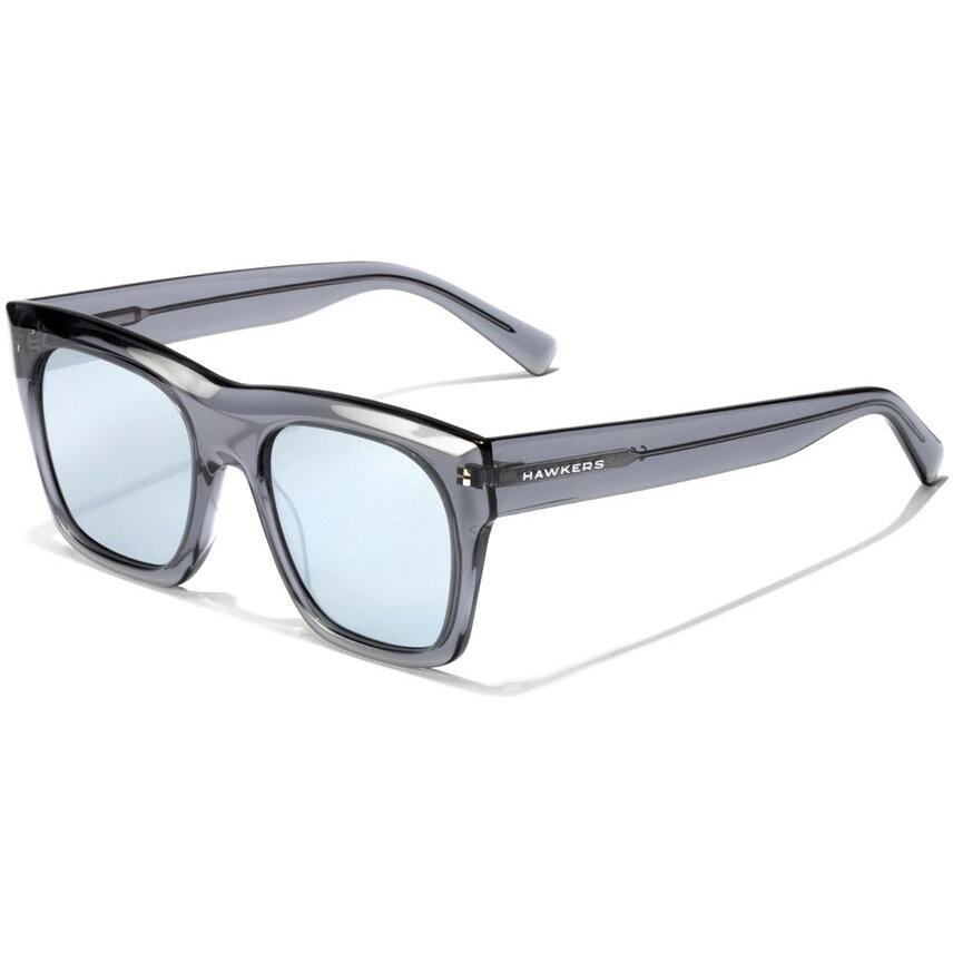 Ochelari de soare unisex Hawkers LifeStyle Grey Blue Chrome Narciso 120026 Supradimensionati originali cu comanda online