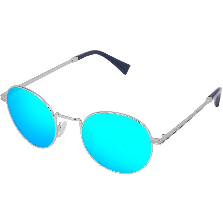 Ochelari de soare unisex Hawkers MOMA5 SILVER CLEAR BLUE Rotunzi originali cu comanda online