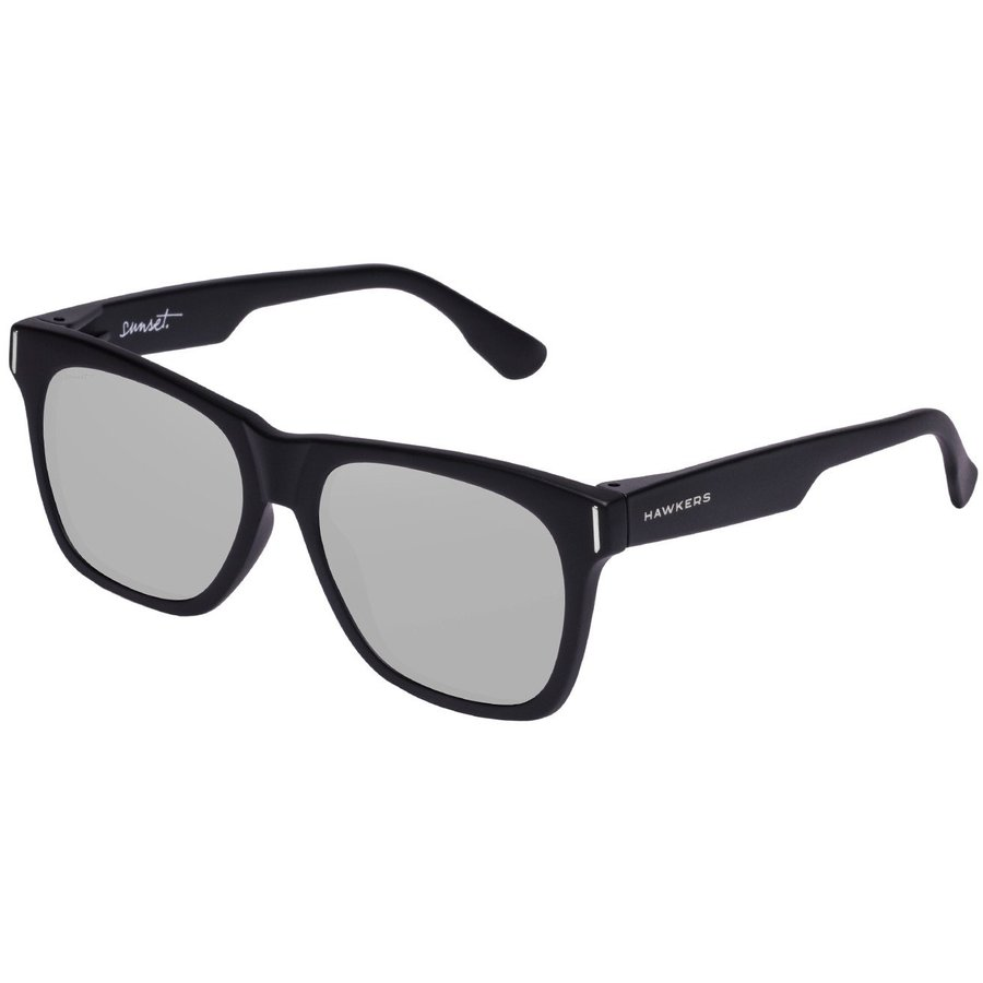 Ochelari de soare unisex Hawkers SUN11 Carbon Black Silver Sunset Patrati originali cu comanda online