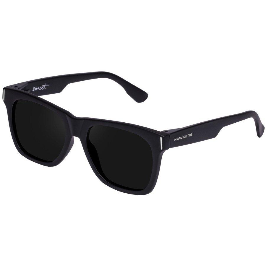 Ochelari de soare unisex Hawkers SUN12 Carbon Black Dark Sunset Patrati originali cu comanda online