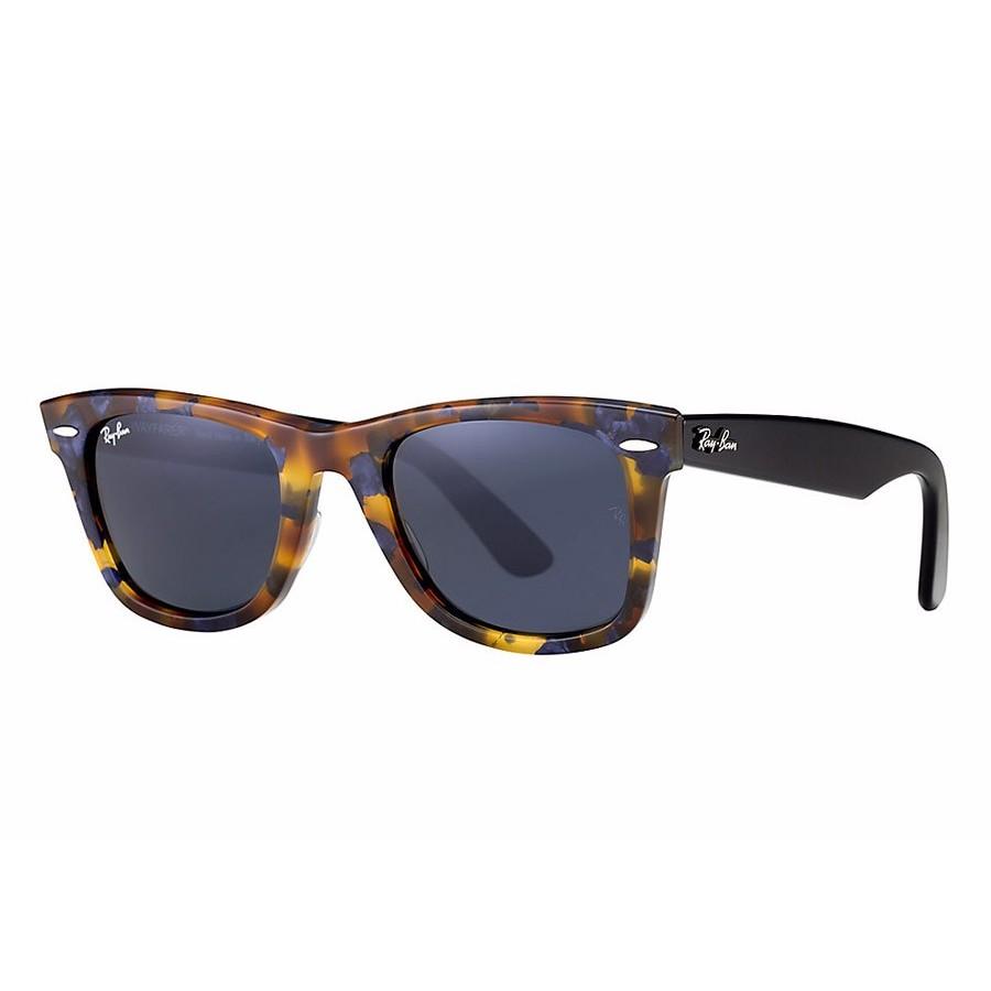 Ochelari de soare unisex Original Wayfarer Fleck Ray-Ban RB2140 1158R5 Rectangulari originali cu comanda online