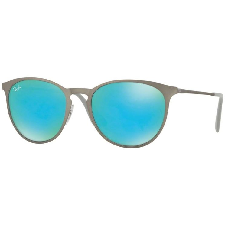 Ochelari de soare unisex Ray-Ban Erika Metal RB3539 9015B4 Rotunzi originali cu comanda online