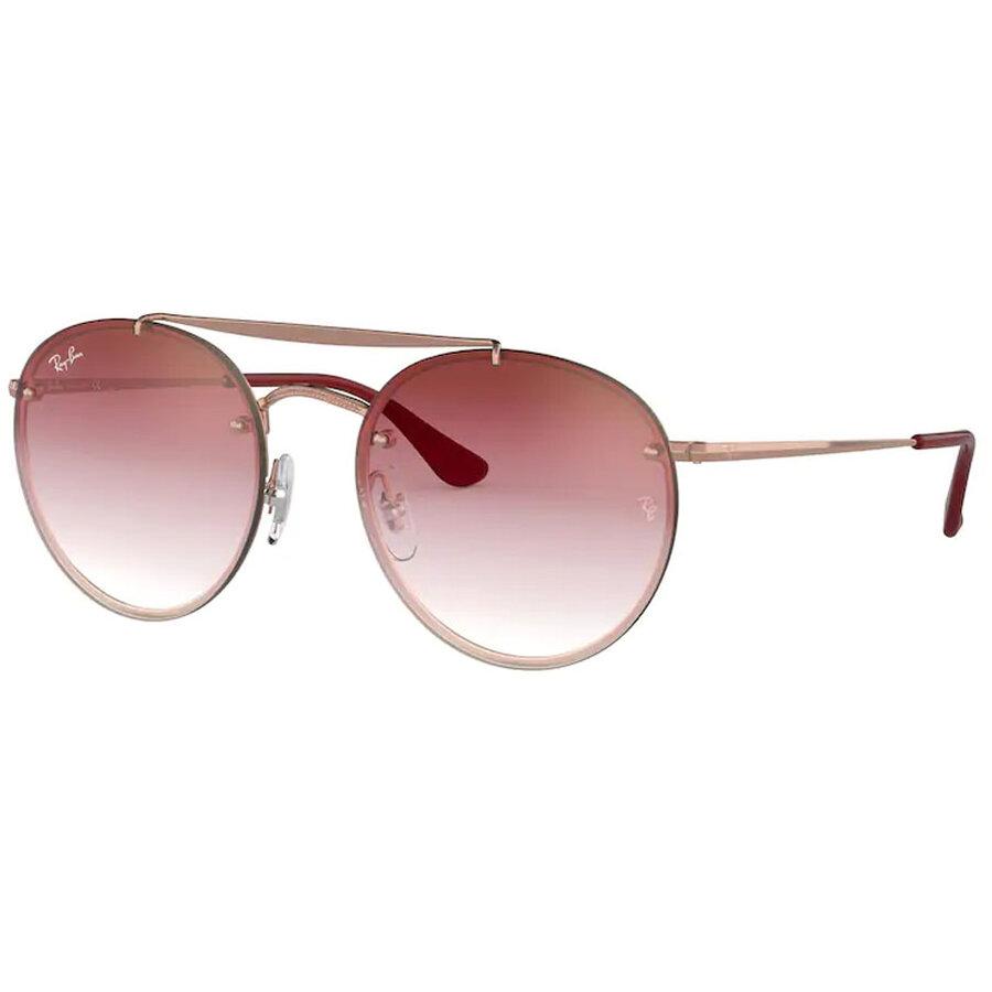 Ochelari de soare unisex Ray-Ban RB3614N 91410T Rotunzi originali cu comanda online