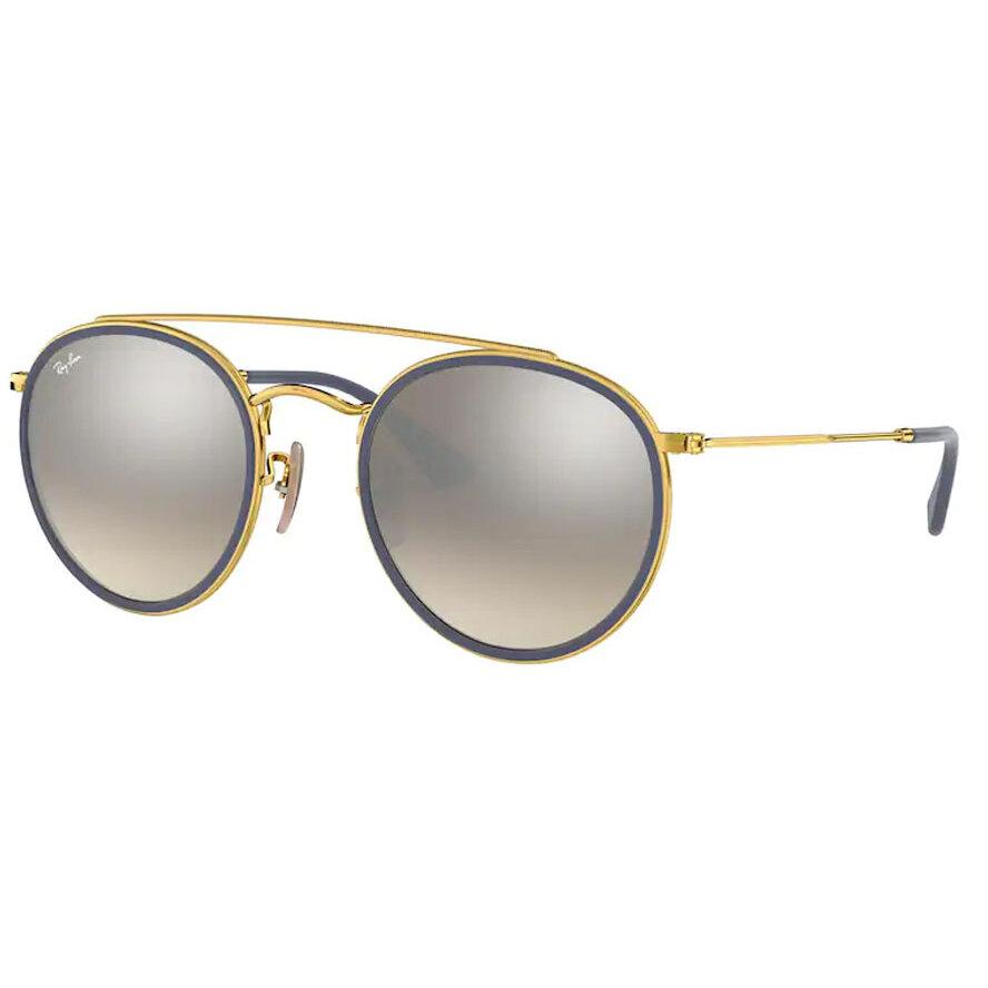 Ochelari de soare unisex Ray-Ban RB3647N 001/9U Rotunzi originali cu comanda online