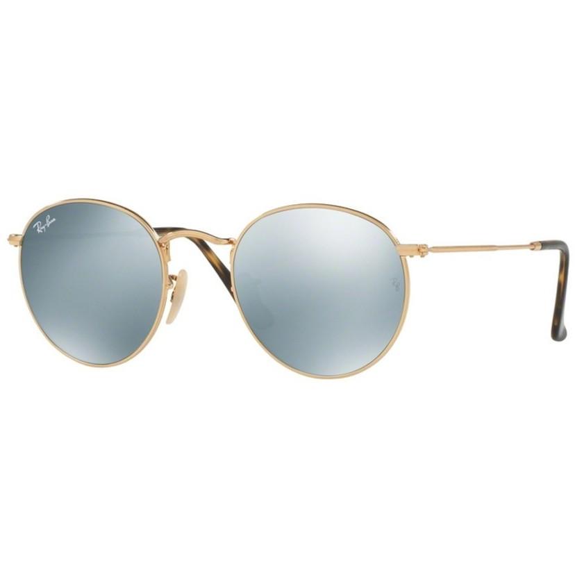 Ochelari de soare unisex Round Classic Ray-Ban RB3447N 001/30 Rotunzi originali cu comanda online