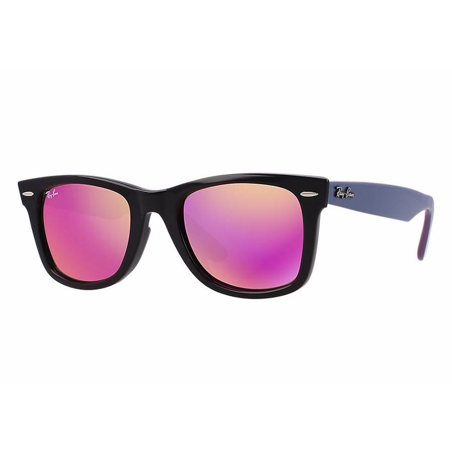 Ochelari de soare unisex Wayfarer Ray-Ban RB2140 11744T Rectangulari originali cu comanda online
