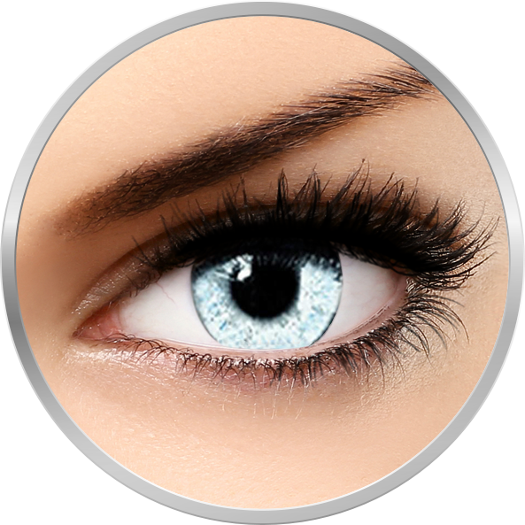 Queen's Solitaire Pearl – lentile de contact colorate gri trimestriale – 90 purtari (2 lentile/cutie) brand Soleko cu comanda online
