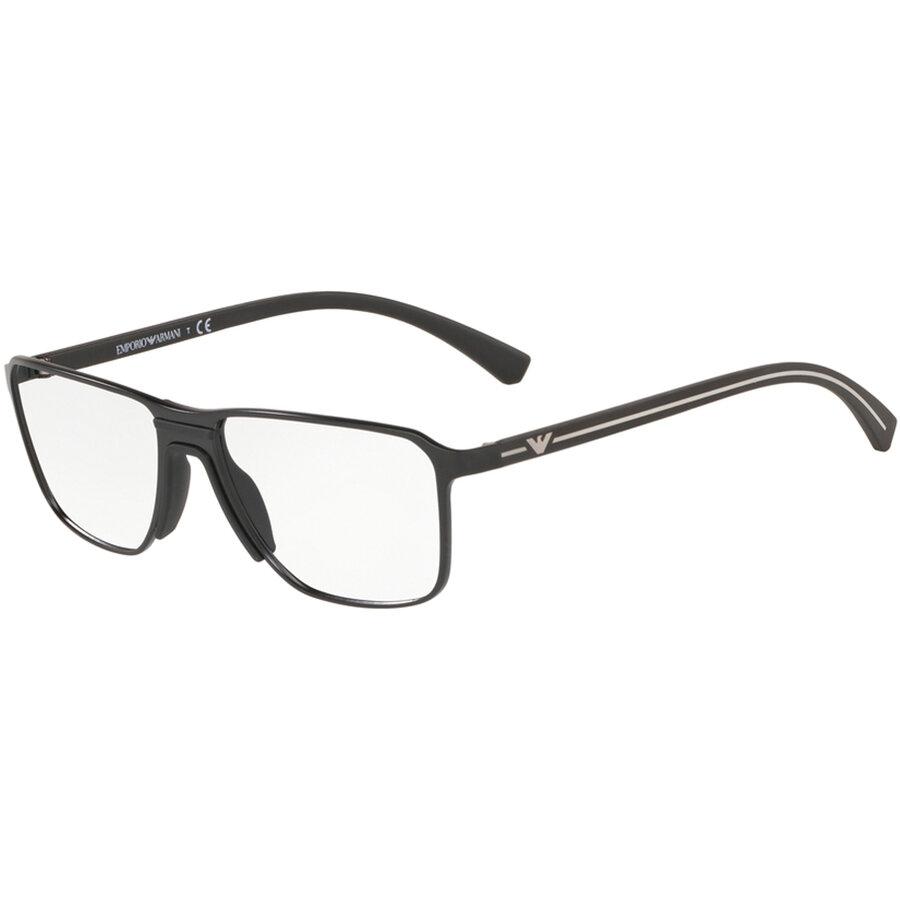 Rame ochelari de vedere Emporio Armani barbati EA1089 3001 Rectangulare originale cu comanda online