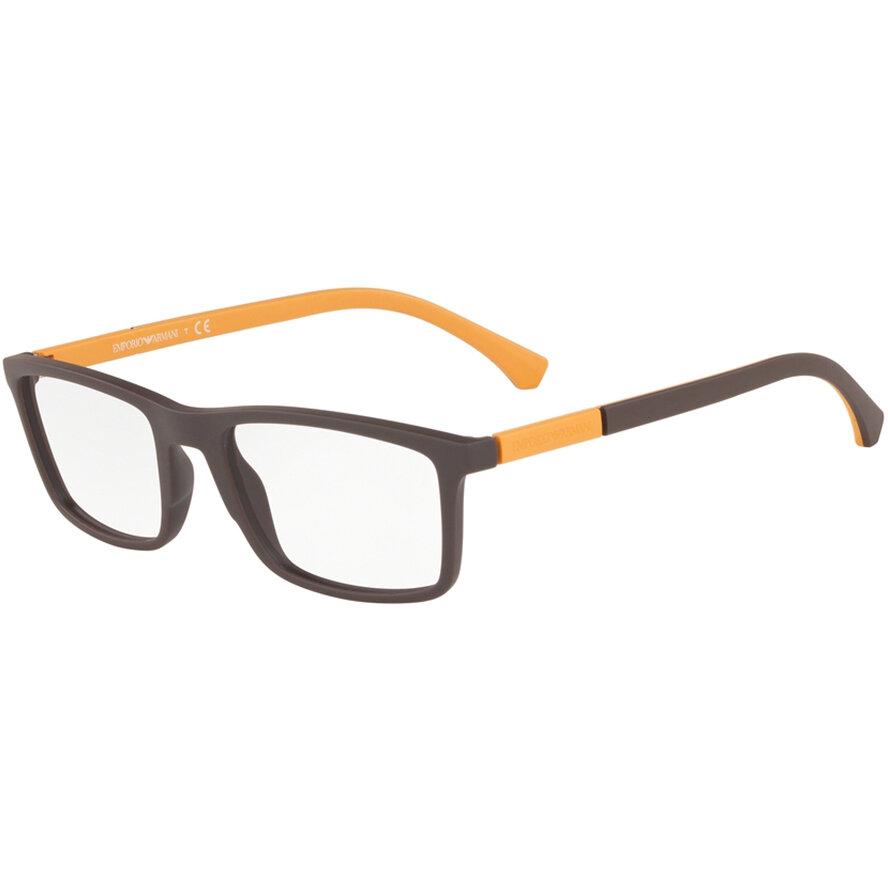 Rame ochelari de vedere Emporio Armani barbati EA3152 5752 Rectangulare originale cu comanda online