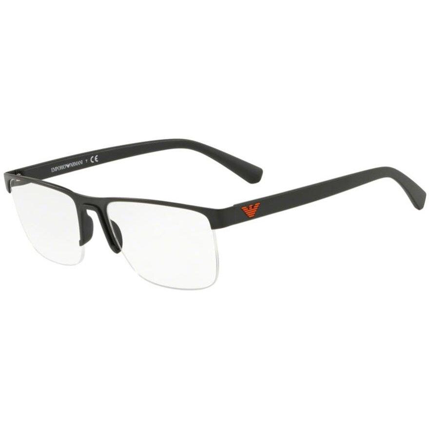 Rame ochelari de vedere barbati Emporio Armani EA1084 3001 Rectangulare originale cu comanda online
