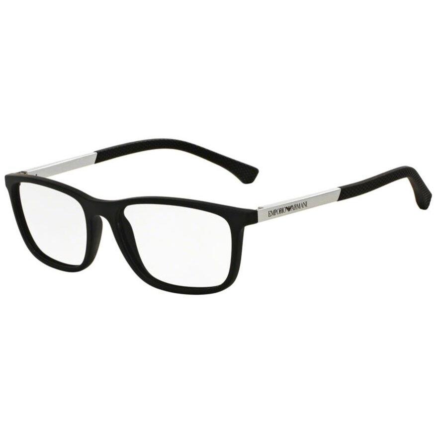 Rame ochelari de vedere barbati Emporio Armani EA3069 5063 Rectangulare originale cu comanda online